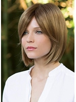 Short Bob Hairstyles Women's Middle Part Straight Synthetic Hair Lace Front Wigs 10Inch