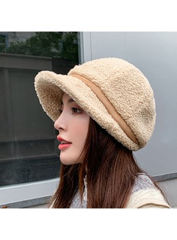 Spring/Winter Women's Sweet Style Stripe Pattern Brimless Bucket Hats