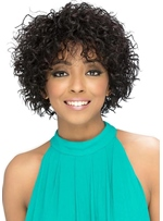 Short Layered Spiral Curl Cut Hairstyle Women's Curly Human Hair Capless Wigs 12Inch