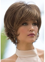 Women's Short Bob Hairstyles Straight Synthetic Hair Wigs Bob Style Capless Wigs 10Inch