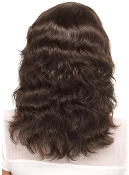 Natural Looking Women's Loose Body Wave Human Hair Lace Front Wigs 18Inch