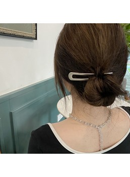 Women's Plain Pattern Alloy E-Plating Hair Accessories Hair Stick For Wedding/Party