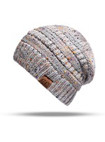 Unisex Women/Men's Fashion Elastic Strap Dome Crown Brimless Woolen Yarn Knitted Hat