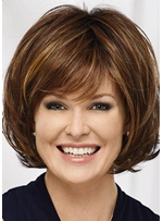 Sexy Women's Short Layered Wavy Hairstyle Synthetic Hair Capless Wigs 12Inch