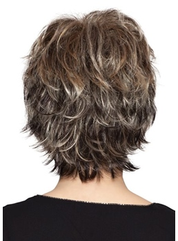 Short Layered Hairstyles Women's Natural Wavy Synthetic Hair Capless Wigs 10Inch