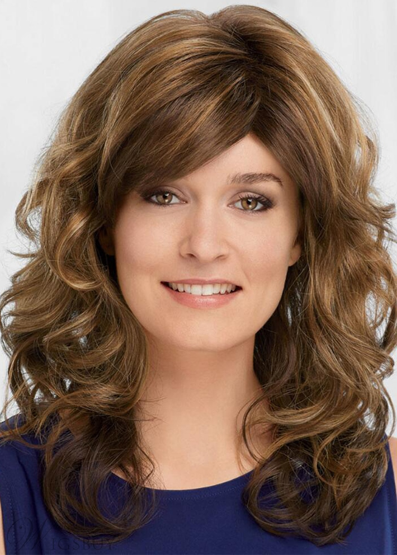 Sexy Women's Natural Looking Wavy Human Hair Capless Wigs 20Inch