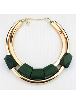 Women's Geometric Pattern E-Plating European Style Choker Necklace