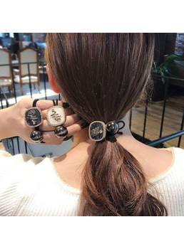Women/Ladies Latter Pattern Hair Accessories Hair Rope For Birthday Gift