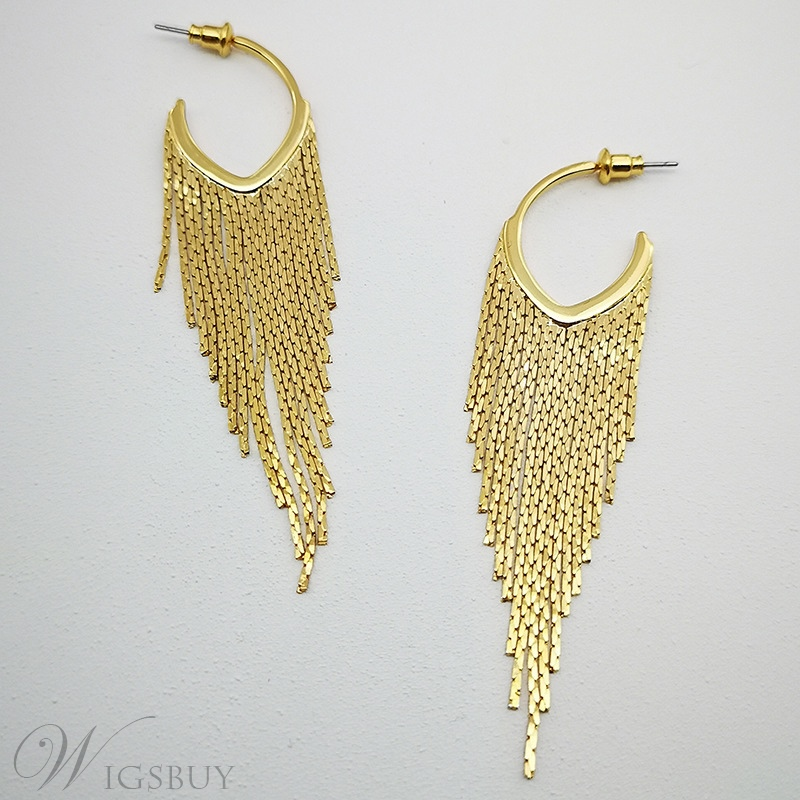 European Style Women's Alloy Plain Pattern E-Plating Drop Earrings