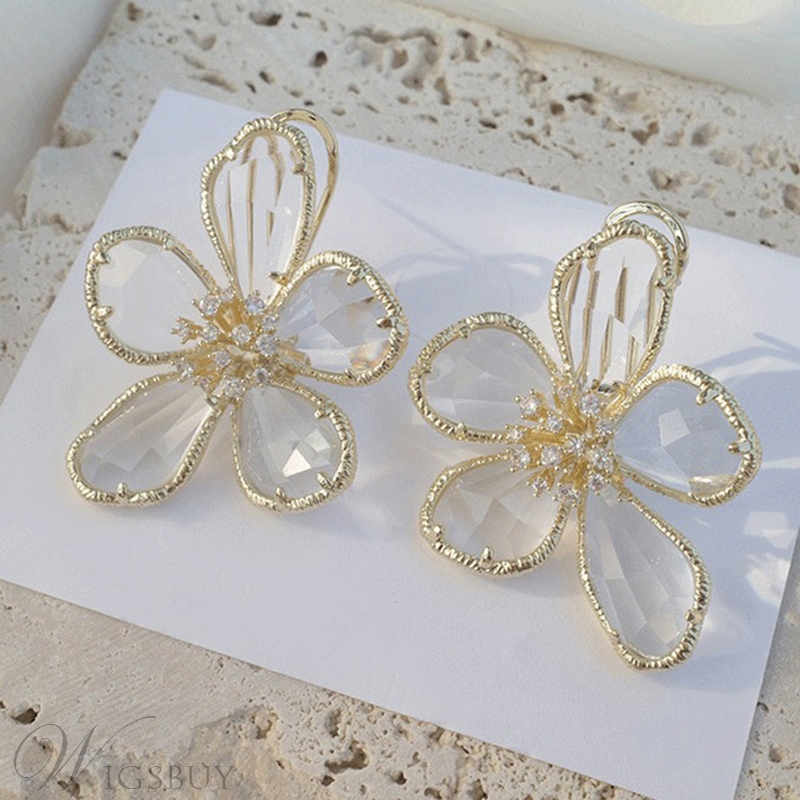 Women's Sweet Style Floral Pattern Drop Earrings for Prom Party Birthday Gift