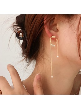 Adult Women's Korean Style Genmetric Pattern Drop Earrings For Prom/Party/Birthday/Gift