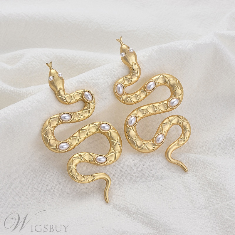 Women/Ladies Korean Style Animal Pattern Alloy E-Plating Technic Drop Earrings