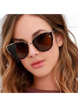 Women/Ladies Metal Frame Anti UV Lens Optical Attribute Poly Carbonate Lens Sunglasses