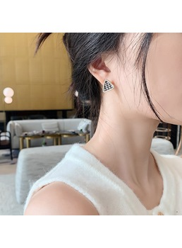 Korean Style Adult Women's Geometric Pattern Diamante Technic Alloy Stud Earrings