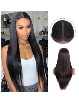 Women's T-Part Wig Straight Human Hair Lace Wig 26Inch