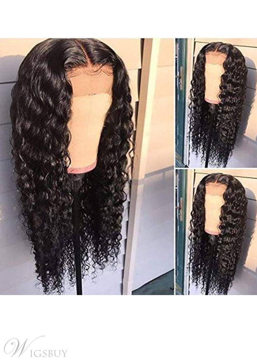 T-part Wig Deep Wave Glueless Human Hair Lace Wigs 24Inch