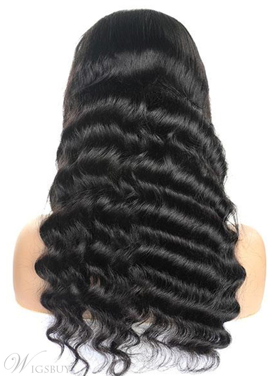 Loose Deep Wave Transparent T Part Lace Wig 100% Human Hair Wigs 22Inch