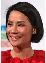 lucy Liu Short Bob Hairstyle Women's Bob Style Straight Human Hair Capless Wigs 10Inch