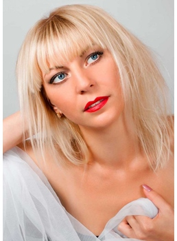 Shag Haircut Blonde Bang Women's Natural Straight Synthetic Hair Capless Wigs 14Inch