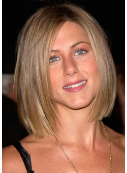 Jennifer Aniston Hottest Short Haircuts Women's Bob Style Synthetic Hair Capless Wigs 12Inch