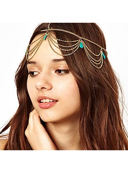 European Style Women/Ladies Geometric Pattern E-Plating Technic Alloy Hairband Hair Accessories