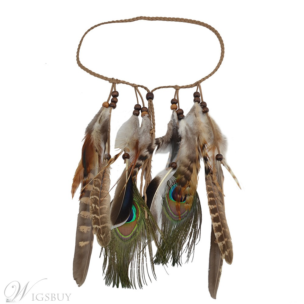 Bohemian Style Women/Girl's Animal Pattern Feather Material Hairband Hair Accessories