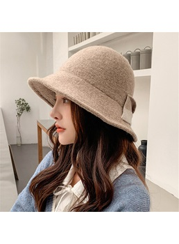Spring/Fall/Winter Women's Korean Style Bowknot Embellishment Plain Pattern Hats