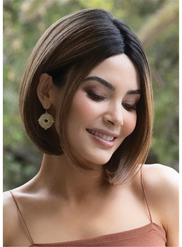 Women's Short Bob Hairstyle Natural Straight Synthetic Hair Capless Wigs 14Inch