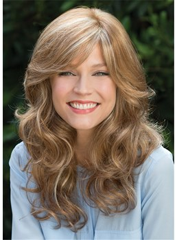 Women's Long Wavy Synthetic Hair Capless Wigs 20Inch