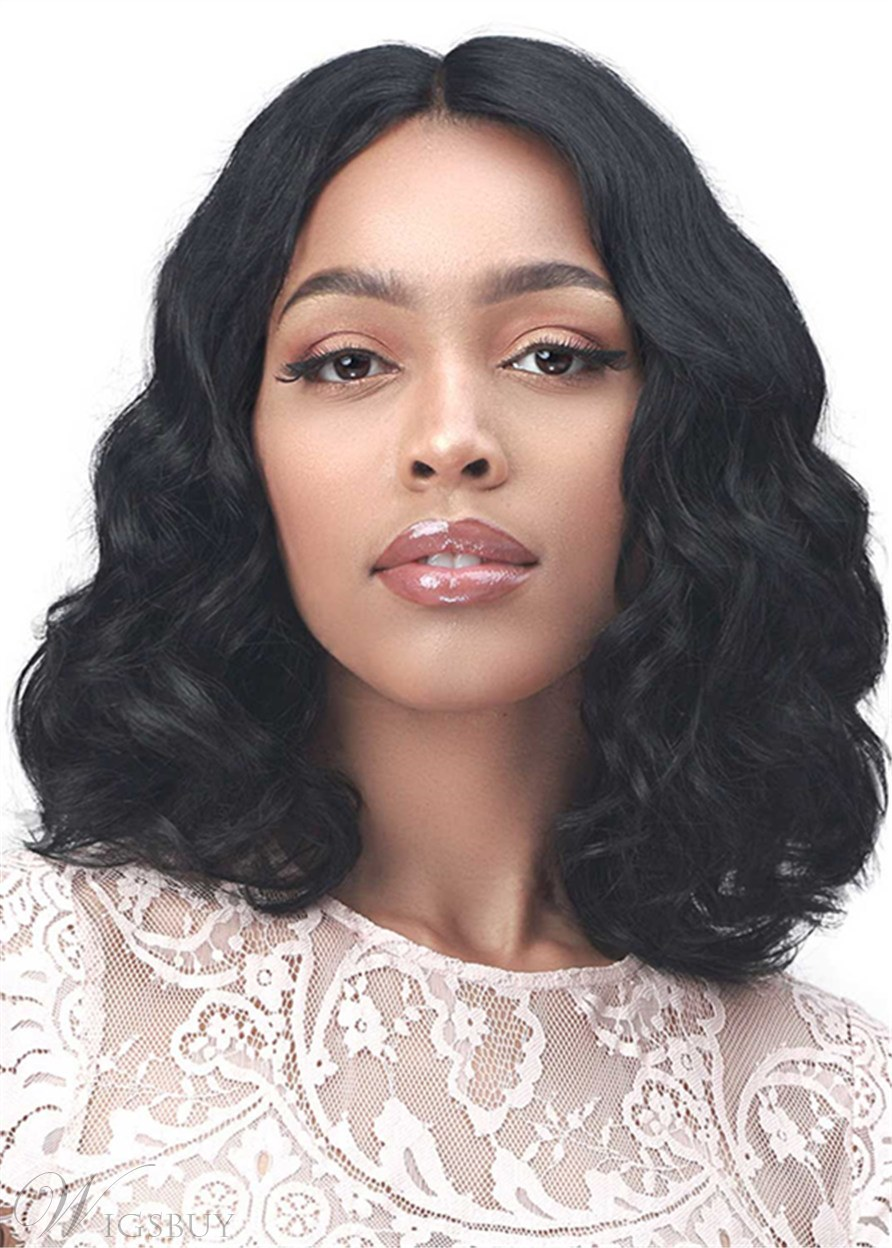 Middle Parted Big Curly Synthetic Hair Capless African American Wigs 16Inch