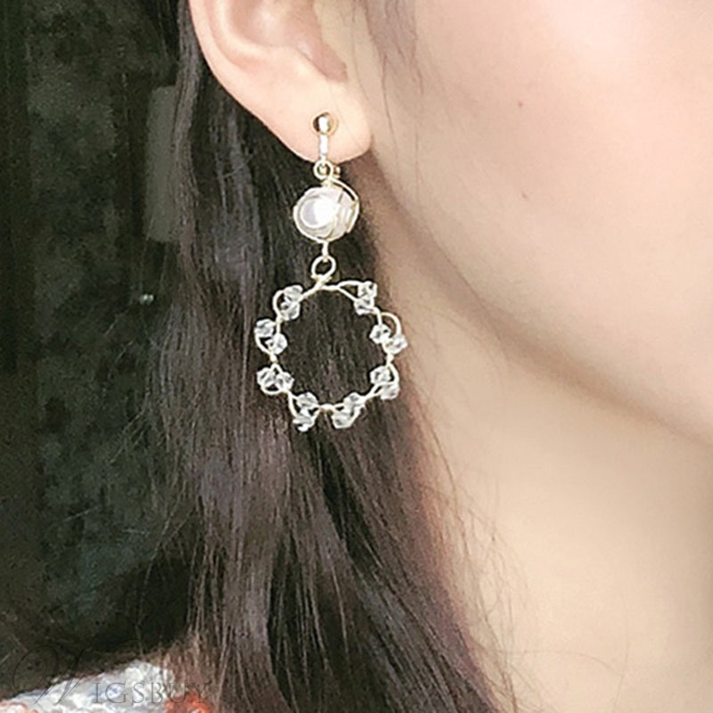 Women's Geometric Pattern Pearl Material Drop Earrings For Prom/Party/Birthday/Gift