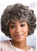 Short Bob Wig Synthetic Hair With Classic Layered Waves 12 Inches