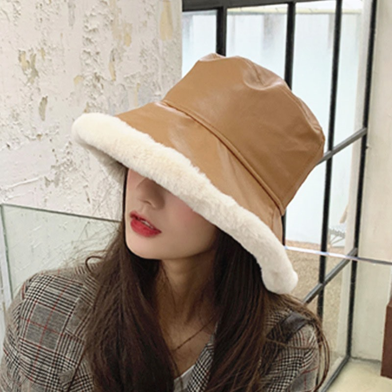 Casual Style Dome Crown Plain Pattern Buket Hats