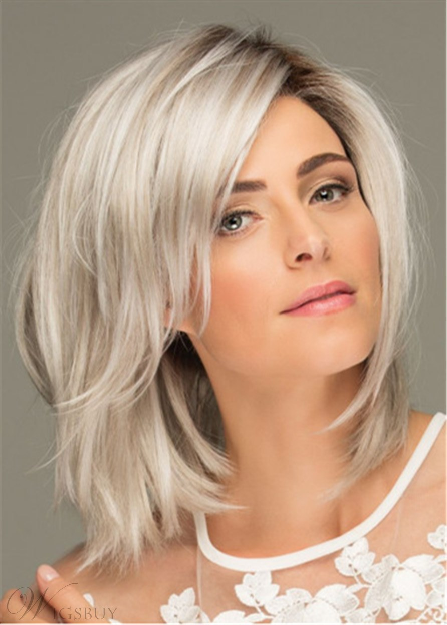 Layered Shag Hairstyle Shoulder Length Synthetic Capless Women Wigs 16Inches