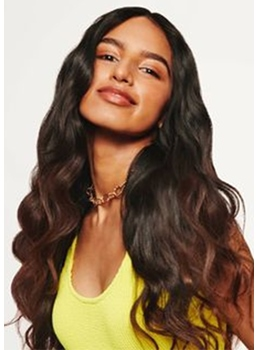 Natural Looking Women's Long Length Wavy Synthetic Hair Capless Wigs 24Inch