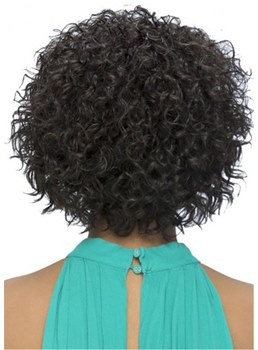 Women's Curly Haircut Short Synthetic Hair Capless Wigs 12Inch