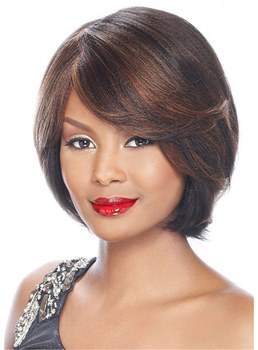 Short Bob Hairstyles Natural Straight Synthetic Hair Women's Wigs 12Inch