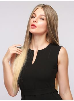 Long Straight Mix Color Synthetic Hair Women Wigs 30Inches