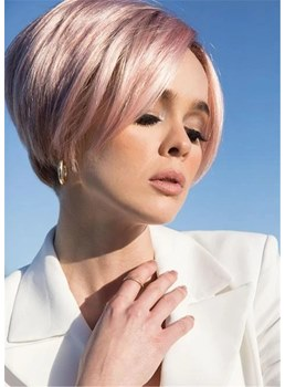 Short Straight Bob Synthetic Hair Capless Wigs 10Inch