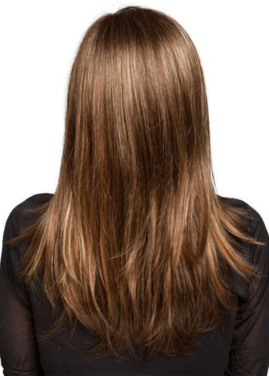 Sexy Women's Long Length Natural Straight Human Hair Capless Wigs 22Inch