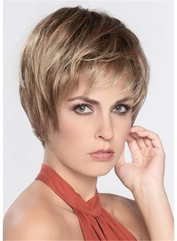 Short Choppy Hairstyles Women's Natraight Straight Layered Synthtic Hair Capless Wigs 10Inches