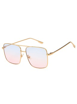 Vintage Style Women/Ladies Metal Frame Resin Lens Square Shape Sunglasses