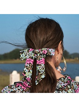 Women's Floral Color Block Pattern Hair Rope Hair Accssories For Party