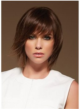 Women's Straight Bob Natural Straight Human Hair Capless Wigs 14Inch