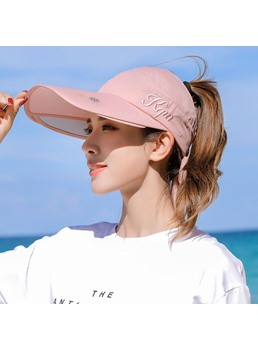 Summer Casual Style Women's Plain Pattern Visor Crown Sun Hats