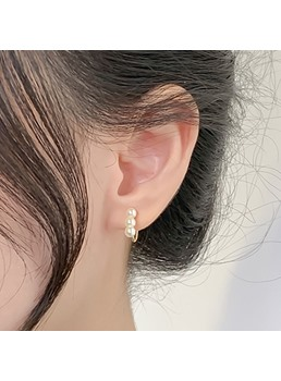 Korean Style Women's Spherical Pattern Alloy Ear Cuffs Type Earrings