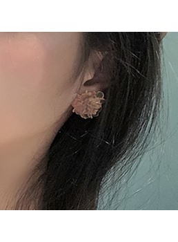 Sweet Style Women's Floral Pattern Stud Earrings For Party Birthday Gift