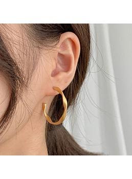 Korean Style Women/Ladies Alloy Material Hoop Earrings For Party/Birthday/Gift