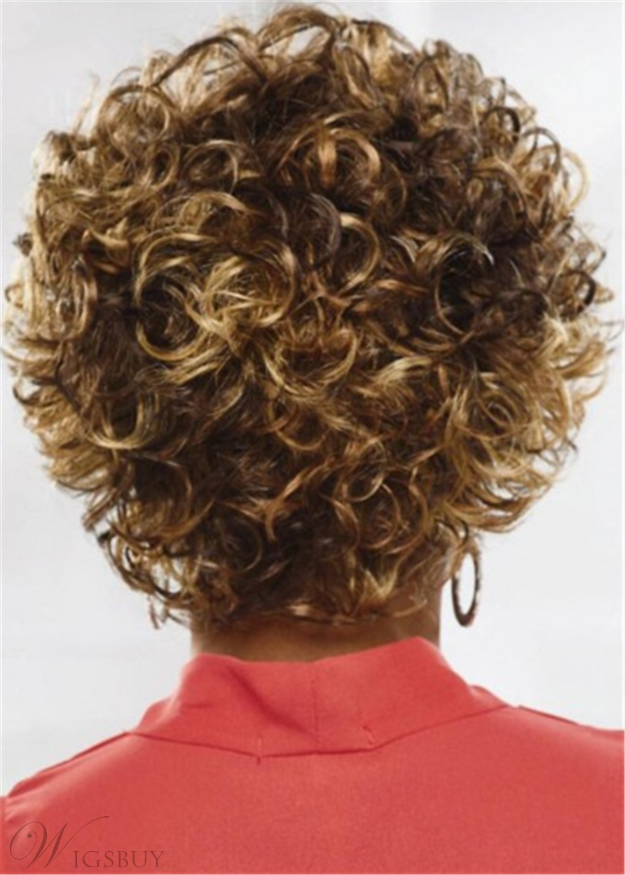 Loose Voluminous Curly Hairstyle Synthetic Hair Capless Women Wigs 10 Inches