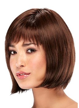 Short Bob Hairstyles Women's Straight Bob Style Human Hair Capless Wigs 10Inch